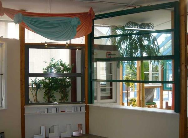 Vertikal-Schiebefenster Alu Typ B